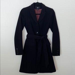 black winter peacoat
